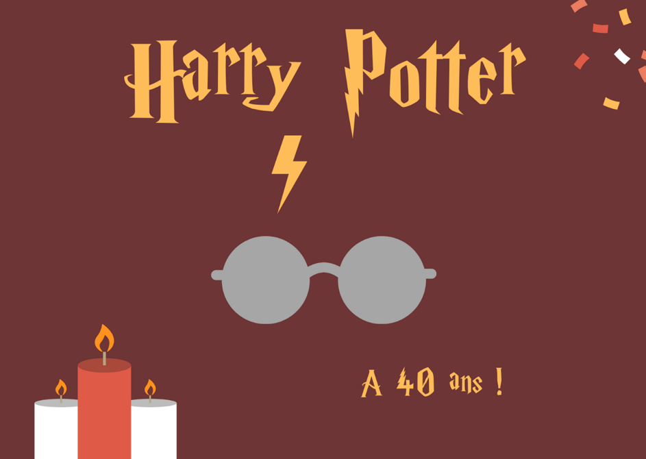 carton d'invitation anniversaire Harry Potter